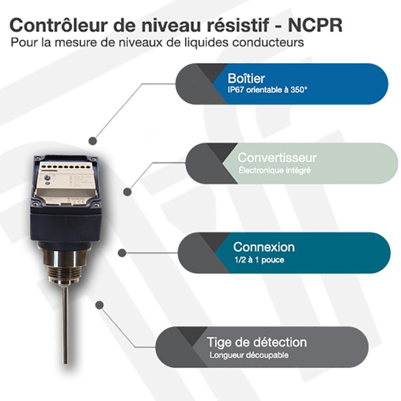 Contrôleur de niveau résistif - NCPR