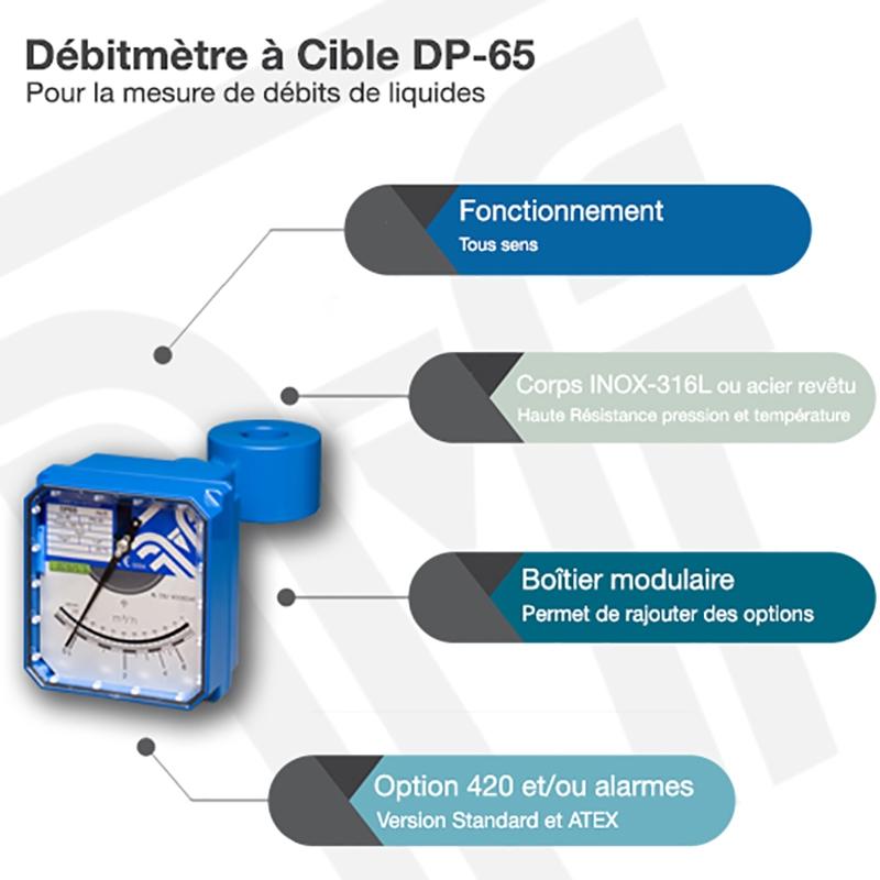 Débitmètre à cible DP-65